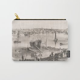 Vintage Pictorial Map of Portland ME (1855) Carry-All Pouch