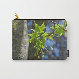 spring maple leaves (abstract edit) Carry-All Pouch