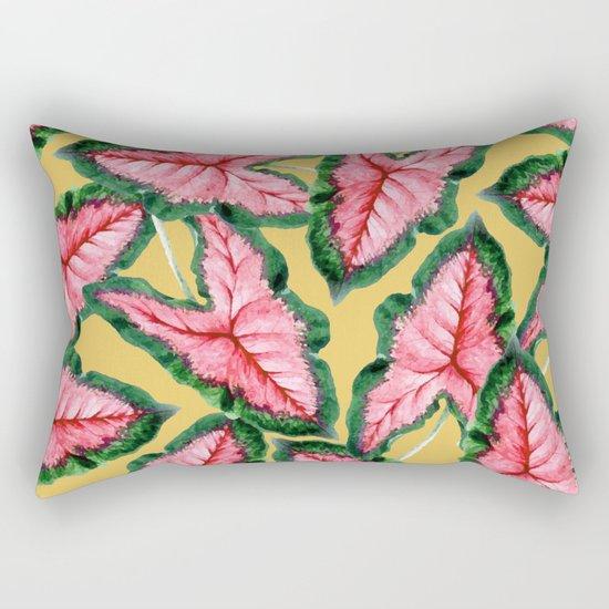 Caladium #society6 #decor #buyart Rectangular Pillow