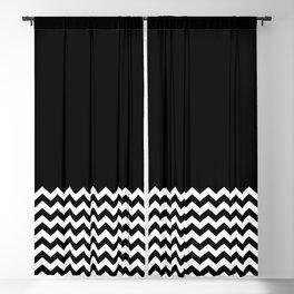 Black & Chevron (Black/White) Blackout Curtain