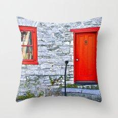 Winchester Red Door Throw Pillow
