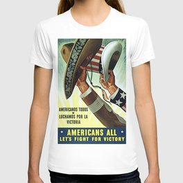 Americans All - Let's Fight for Victory T-shirt