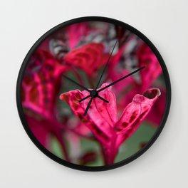 Rich Magenta Wall Clock