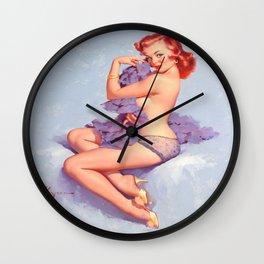 Pin Up Girl Roxanne by Gil Elvgren Wall Clock
