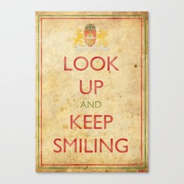Budapest Look Up and Keep Smiling Canvas Print