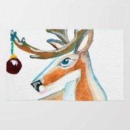 """Frosty Reindeer """"Old Big Blue"""" Rug"""