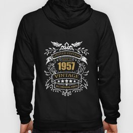 Vintage Limited Edition Made In 1957 Birthday Gift Hoody