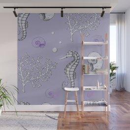 Violet ocean Wall Mural