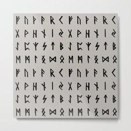Nordic Runes // Storm Cloud Metal Print