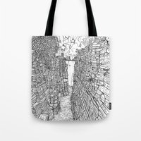 library Tote Bags featuring the Library by KadetKat
