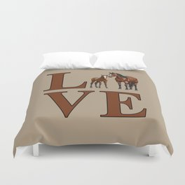 Love Horses Bay Mare and Cute Foal Duvet Cover