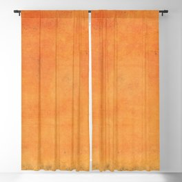 Minimal Orange Abstract Colorfield Painting  01 Blackout Curtain