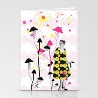 mushroom Stationery Cards featuring Mushroom by Emilie Ramon