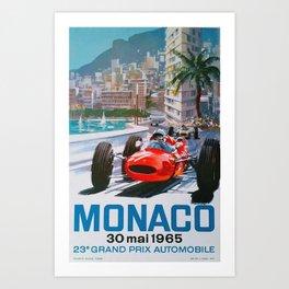 Monaco 1965 Art Print