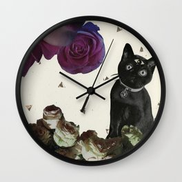 Ask the Cat Wall Clock