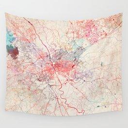 Columbia map South Carolina painting Wall Tapestry