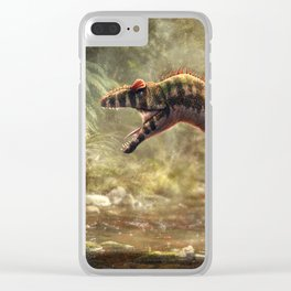 Allosaurus Fragilis Restored Clear iPhone Case