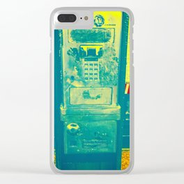 Transportation Communication Clear iPhone Case