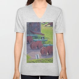 Ancient Norwegian Cannons Unisex V-Neck