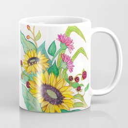 Sunflower Ikebana Coffee Mug