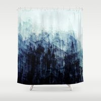 brussels Shower Curtains featuring Brussels by Mina & Jon