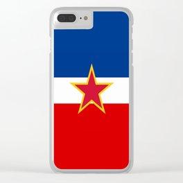Yugoslavia National Flag Clear iPhone Case