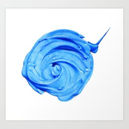 blue paint dab Art Print