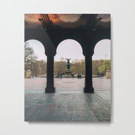Bethesda Fountain Metal Print