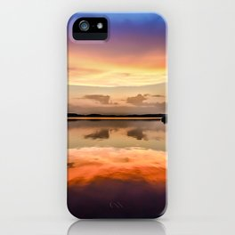 Sunset Symmetry iPhone Case