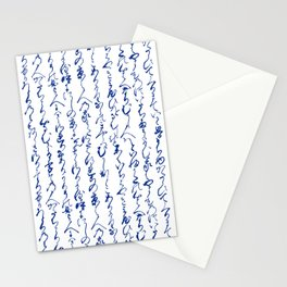 Ancient Japanese Calligraphy // Dark Blue Stationery Cards