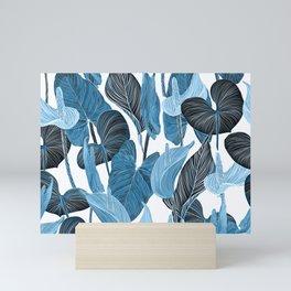 Lush Lily - chambray Mini Art Print