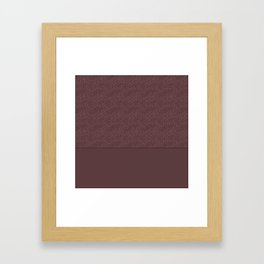 Warm , chocolate brown solid pattern . Chocolate . Framed Art Print