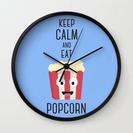 Eat Popocorn Wall Clock