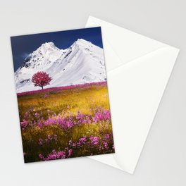 When Flowers Bloom And The Mountains Froze Stationery Cards