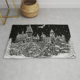 Holiday at Hogwart Rug
