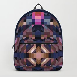 CHASM dark geometrical triangle abstract with deep pink highlights Backpack