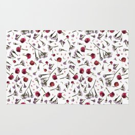 Flatlay Floral Fall Blossoms Rug