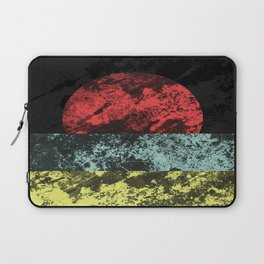 Sunset Beach - Abstract, marble effect, geometric painting Laptop Sleeve