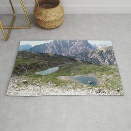 Alps Mountain Lakes Landscape Rug