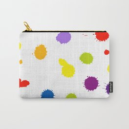 Seamless pattern background with rainbow blots Carry-All Pouch