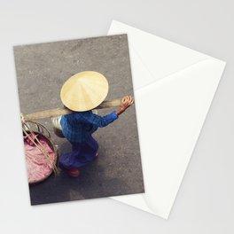 Street seller, Vietnam Stationery Cards