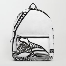 Black and White Form Backpack