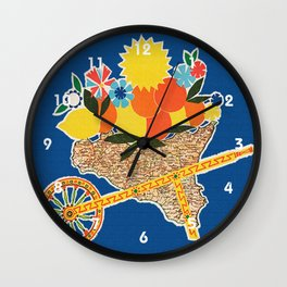 Sicilia - Sicily Italy Vintage Travel Wall Clock