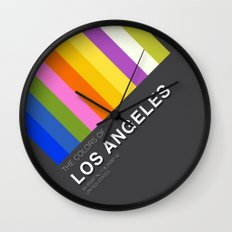 Colors of Los Angeles Wall Clock