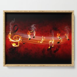 Hot Music Notes Serving Tray