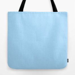 Solid Pale Light Blue Color Tote Bag
