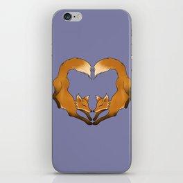 Heartful Foxes iPhone Skin
