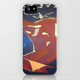 Backview of A Young Woman Dancing In A Night Club iPhone Case