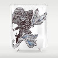 wings Shower Curtains featuring Wings by Ilariabp.art
