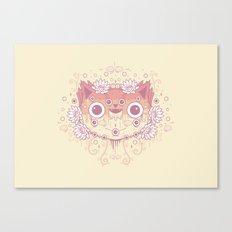 Cat flowers Canvas Print